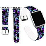 Jolook for Apple Watch Bands 38mm Man,Jolook Soft Leather Sport Style Replacement iWatch Strap for iWatch Apple Watch 38mm Series 1 Series 2 Series 3 - Marble Galaly Pineapple Band