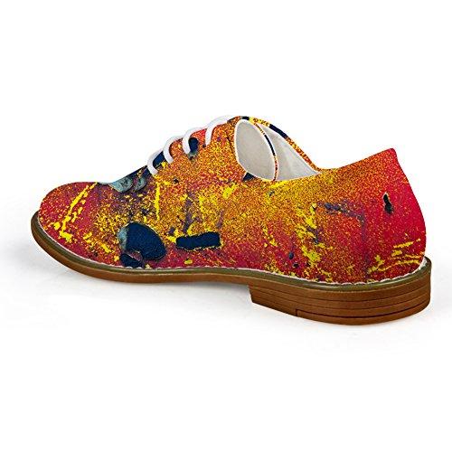 Abrazos Idea Galaxy Moda Para Hombre Con Cordones Oxford Zapatos Rojos