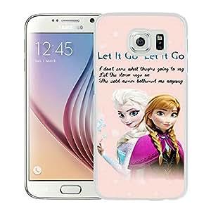Frozen White Samsung Galaxy S6 Screen Cover Case Genuine Design High Quality
