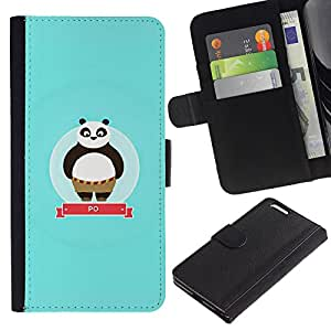 KingStore / Leather Etui en cuir / Apple Iphone 6 PLUS 5.5 / Baby Blue personaje lindo