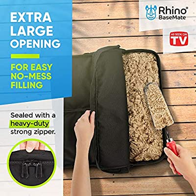 Rhino Square Umbrella Base Weights with Side Slot Opening, 18