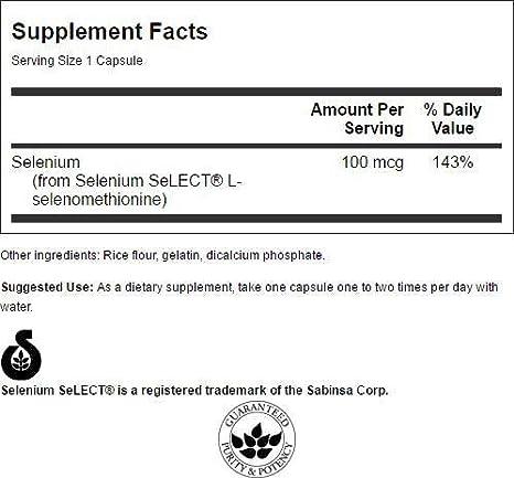 Amazon.com: Swanson Selenio (l-selenomethionine) 100 mcg 200 ...