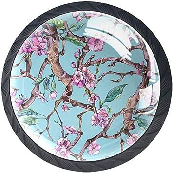 Kitchen Handmade Cherries Porcelain Cabinet Drawer Knob