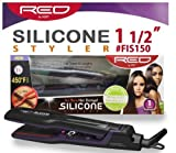 RED Kiss Silicone Flat Iron, 1.5 Inch