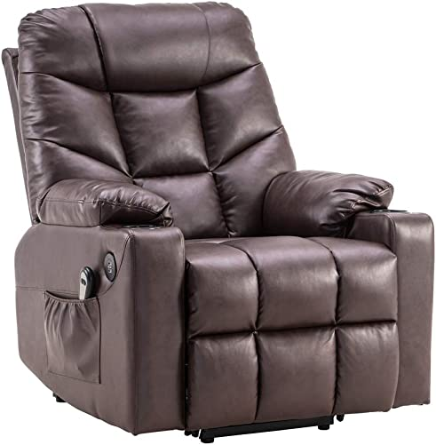 Power Lift Recliner Chair Massage PU Leather Single Sofa