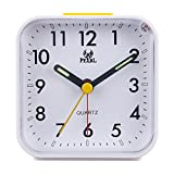 Kitchen Appliance Packages Amazon Kaimao Non Ticking Analog Alarm Clock with Nightlight and Snooze, Small Desk Clocks AA Battery Powered, White