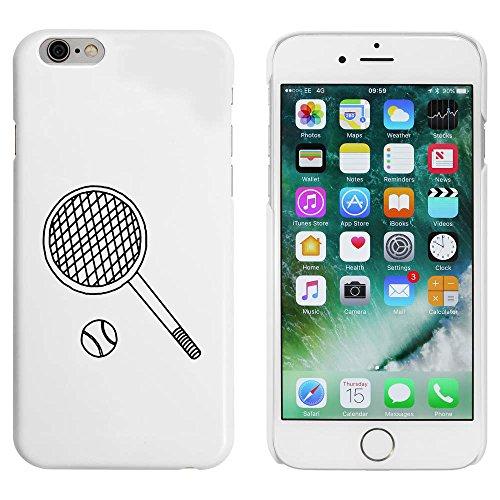 Weiß 'Tennisschläger & Ball' Hülle für iPhone 6 u. 6s (MC00084589)