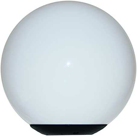 """in White Acrylic Post Top Decorative Globe w// 5.25/'/' Hole Opening NEW 18"""""""