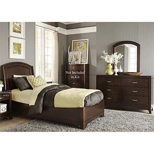 Liberty Furniture Avalon 3 Piece Twin Panel Bedroom Set in Truffle