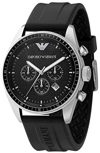 - Emporio Armani Watch, Men's Chronograph Black Rubber Strap AR0527