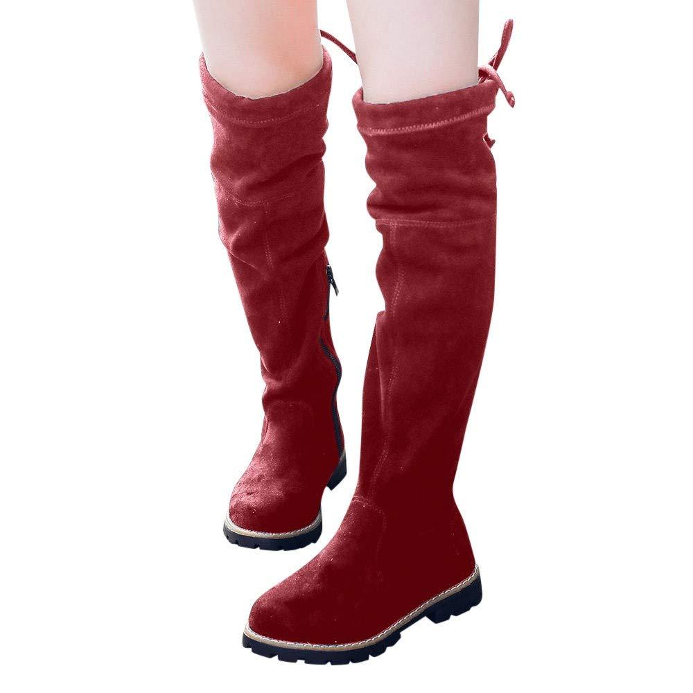 KUKICAT Bottines Style Motard Cuissardes en Daim pour Filles Bébé, Hiver Soldes Chaussures Bottes Hautes Casual Baby Girl Longueur Boots Baby-20