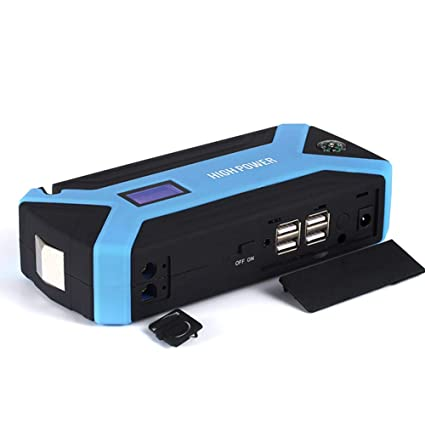 Arrancador de batería portátil para coche, 600 A, pico de emergencia, banco de