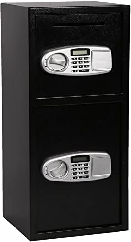 FDW Double Door Cash Office Security Lock Digital Safe Depository Drop Box