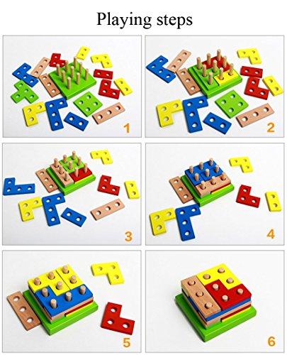 Preschool Toys 3 5 Years : Wooden educational preschool shape early developmental