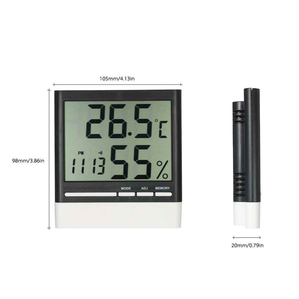 Providethebest CX-318 Digital LCD Thermometer Hygrometer Electronic Temperature Humidity Moisture Meter Weather Station Alarm Clock