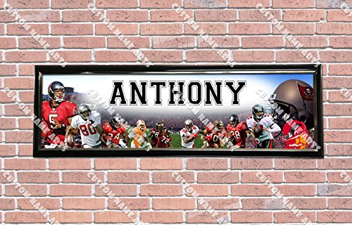 (Personalized Customized Tampa Bay Buccaneers Poster With Frame, With Your Name On It, Party Door Poster, Room Art Decoration, Wall Decor)