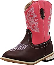 NORTY Boy's Girl's Unisex Western Cowboy Boot for Toddlers to