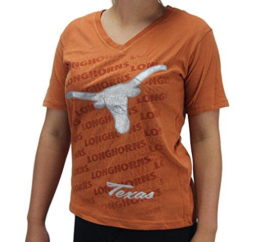 Three Square Women' s Texas Longhorns Glitter T-Shirt SM - Texas Glitter