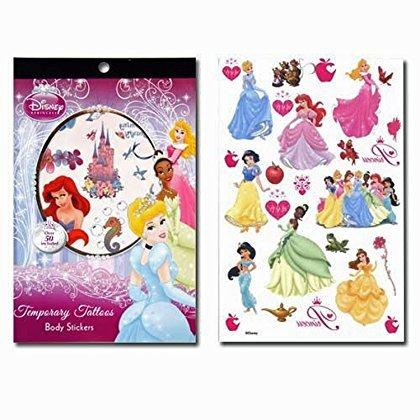 [12-Piece Disney Princess Tattoo Sheets] (Disney Princess And The Frog Tattoos)