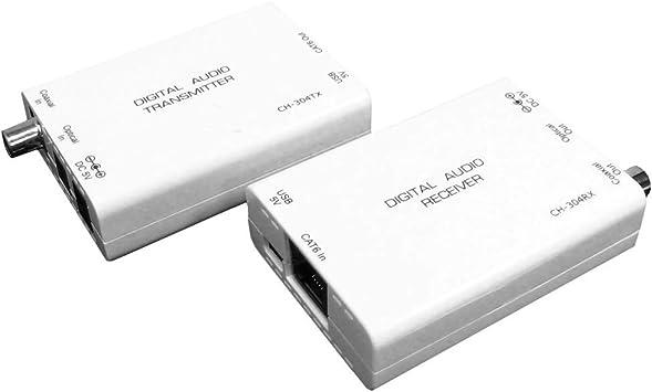 BeMatik - Extensor de audio digital UTP Cat.5 para coaxial y toslink: Amazon.es: Electrónica