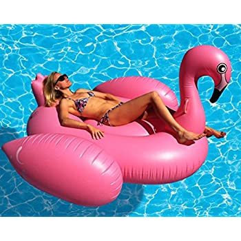 The Original Giant Flamingo Inflatable Pool Float- 80 Inches. USA Seller.