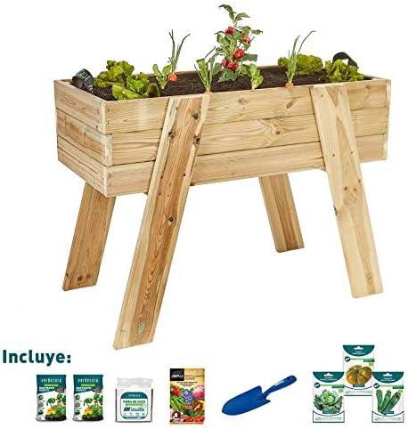 verdecora | Kit de Cultivo Huerto Urbano XL 100x50x75cm - Kit de ...