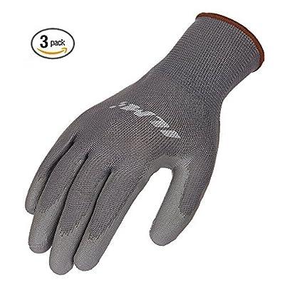 ILM Safety Work Gloves Utility Ultimate Nitrile Grip For Garden Electrician Automotive Kids Women Men (XXL, GRAY) by ILM