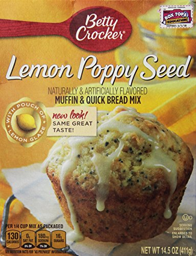 Betty Crocker Lemon Poppy Seed Muffin & Quick Bread Mix 14.5 Oz (Pack of ()