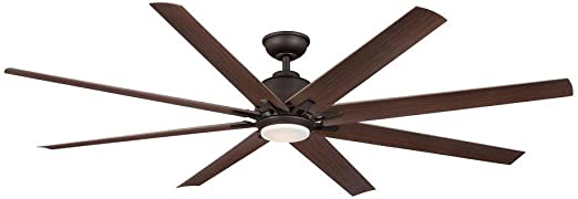 Amazon Com Home Decorators Collection Kensgrove 72 In Indoor Outdoor Oil Rubbed Bronze Led Ceiling Fan Home Kitchen
