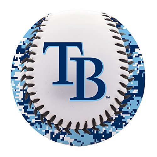 Franklin Sports Tampa Bay Rays Baseball Teeball - Soft Strike - Digi Camo Graphic PVC Cover - Soft Core - MLB Official Licensed Product - Official Mlb Tampa Bay