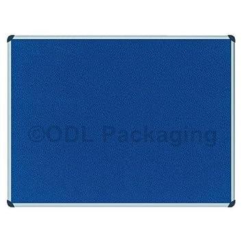 Felt Notice Board Aluminium Frame 1200x900mm (Blue): Amazon.co.uk ...