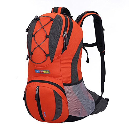 OrrinSports Polyester Waterproof Durable Packable Handy Lightweight Travel Backpack & Daypacks 30L-Orange