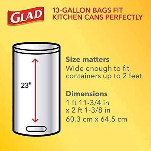 Tall Kitchen Drawstring Trash Bag - 13 Gallon, 1 Pack of 90 Count