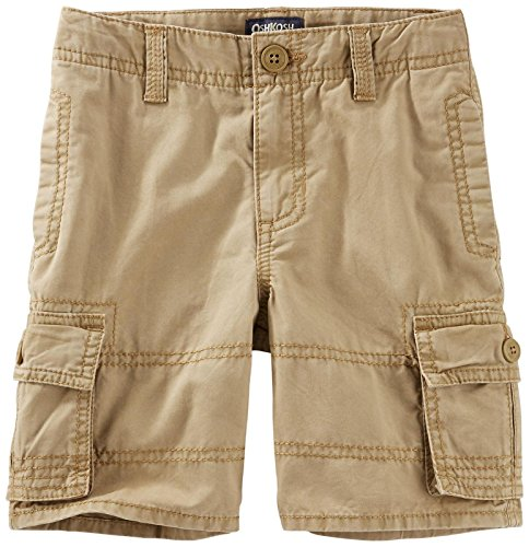 Oshkosh B'gosh Oshkosh B'gosh Boys Woven Short 21771812, Brown, 3T Toddler