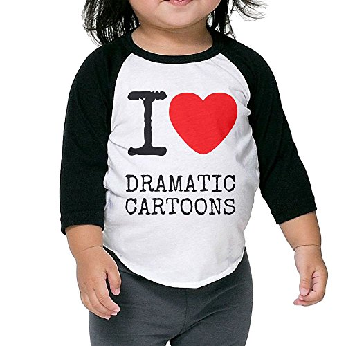 Odelneyette-Bar-Childrens-I-Love-Dramatic-Cartoons-Comfortable-Baby-Boys-Girls-Long-Sleeved-Round-Neck