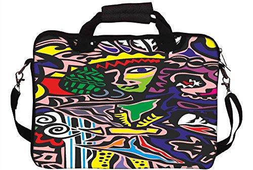 Snoogg Junglee Mädchen 30,5cm 30,7cm 31,8cm Zoll Laptop Notebook Computer Schultertasche Messenger-Tasche Griff Tasche mit weichem Tragegriff abnehmbarer Schultergurt für Laptop Tablet PC Ultrabook