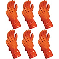 Atlas 460 Vinylove Cold Weather PVC Insulated Freezer Medium Gloves, 6-Pairs