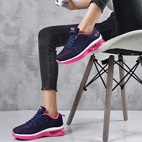 RomenSi Womens Air Athletic Running Sneakers Fashion Breathable Sport Gym Walking Tennis Shoes (US5.5-10 B(M) 7