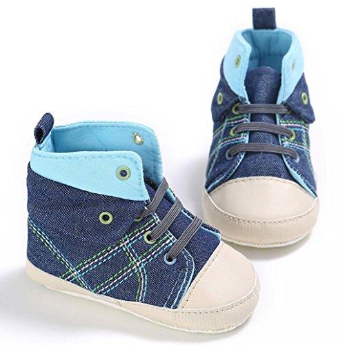 ... BZLine® Baby Anti-Rutsch weichen Sohle Babyschuhe Krippeschuhe Sneaker  Blau ...
