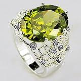 Women 925 Silver Ring Huge Emerald Wedding Man Ring Size 6-10#by pimchanok shop (6)