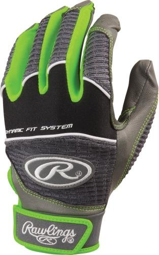 Adult Bat Gloves (Rawlings WORK950BG-GR-89Batting Glove Green Medium)