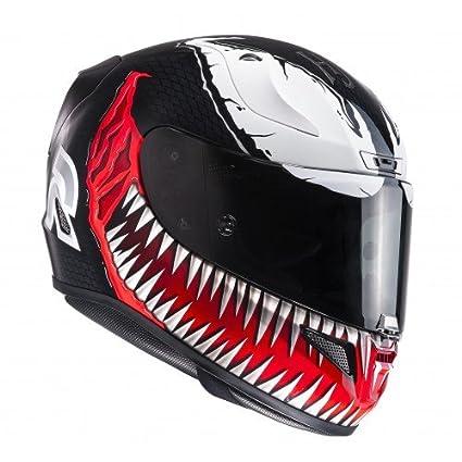 HJC 133301l Casco Moto, Negro/Rojo, L: Amazon.es: Coche y moto