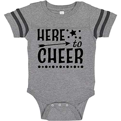 (inktastic - Here to Infant Creeper 12 Months Football Heather and Smoke 2c4cd)