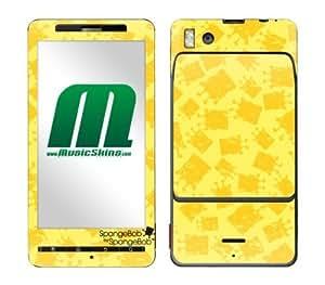 MusicSkins, MS-SBSB40151, SpongeBob by SpongeBob - Iconic Yellow, Motorola Droid X/X2, Skin