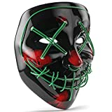 Scary Halloween/Cosplay Mask - The Purge Full Face LED Light Up Horror Mask