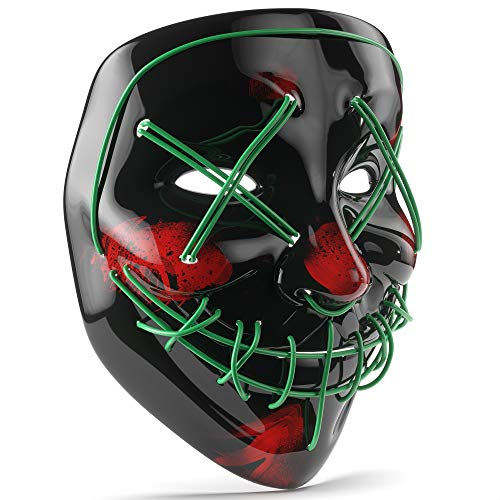 Purge LED Mask - Perfect for Halloween, Rave,