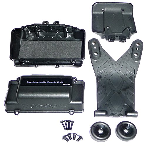Traxxas Jato 3.3 WHEELIE BAR & SKID, REAR BUMPER, FOAM PAD & BATTERY BOX