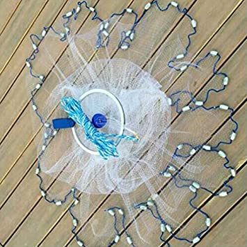 1 Anello da Pesca in Alluminio con Rete da Cacciatore USA MongKok 240 cm