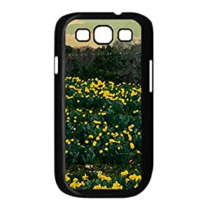 Yellow Pasture Watercolor style Cover Samsung Galaxy S3 I9300 Case (Spring Watercolor style Cover Samsung Galaxy S3 I9300 Case)