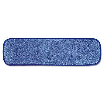 Rubbermaid Commercial FGQ41000BL00 HYGEN Microfiber Room Mop Pad, Damp, Single-Sided, 18-Inch, Blue